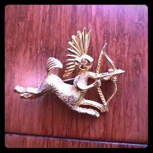 Vintage Warrior Centaur Brooch